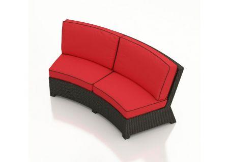 Forever Patio Barbados Flagship Ruby Curved Sofa  - FP-BAR-CS-EB-FB