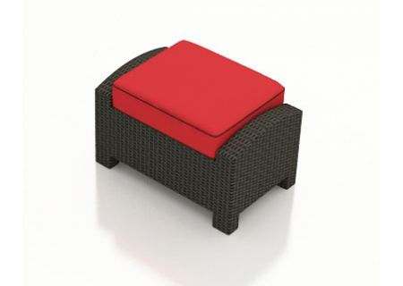 Forever Patio Barbados Flagship Ruby Ottoman  - FP-BAR-OT-EB-FB