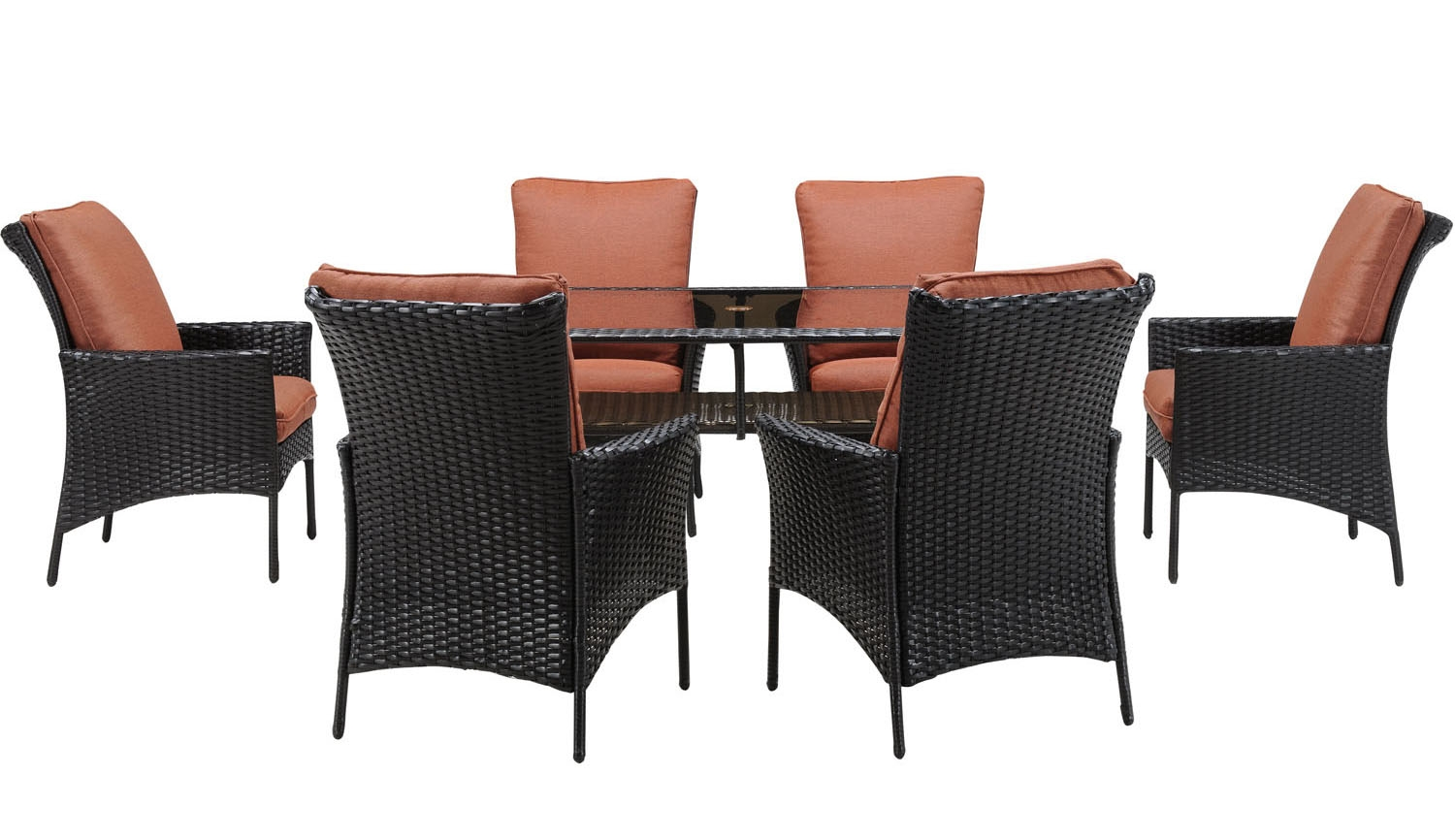 Strathmere Allure 7 Piece Outdoor Dining Patio Set STRALDN7PC RST. Full resolution  image, nominally Width 1500 Height 866 pixels, image with #8F503C.