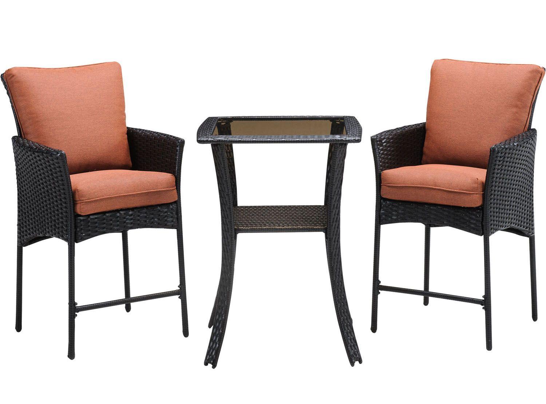 Hanover strathmere 3 piece patio set stralhbr5pcsq rst for Outdoor furniture big w