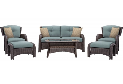 Hanover - STRATHMERE6PCBLU - Patio Furniture