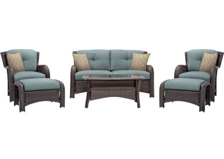 Hanover - STRATHMERE6PCBLU - Patio Seating Sets