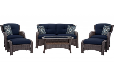 Hanover - STRATHMERE6PCNVY - Patio Seating Sets
