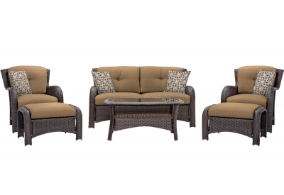 Hanover - STRATHMERE6PCTAN - Patio Seating Sets