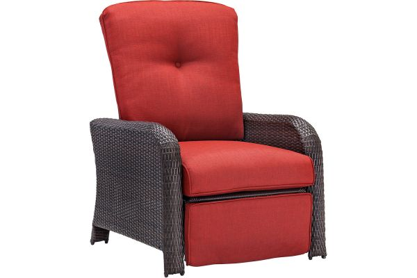 Large image of Hanover Strathmere Outdoor Reclining Arm Chair  - STRATHRECRED