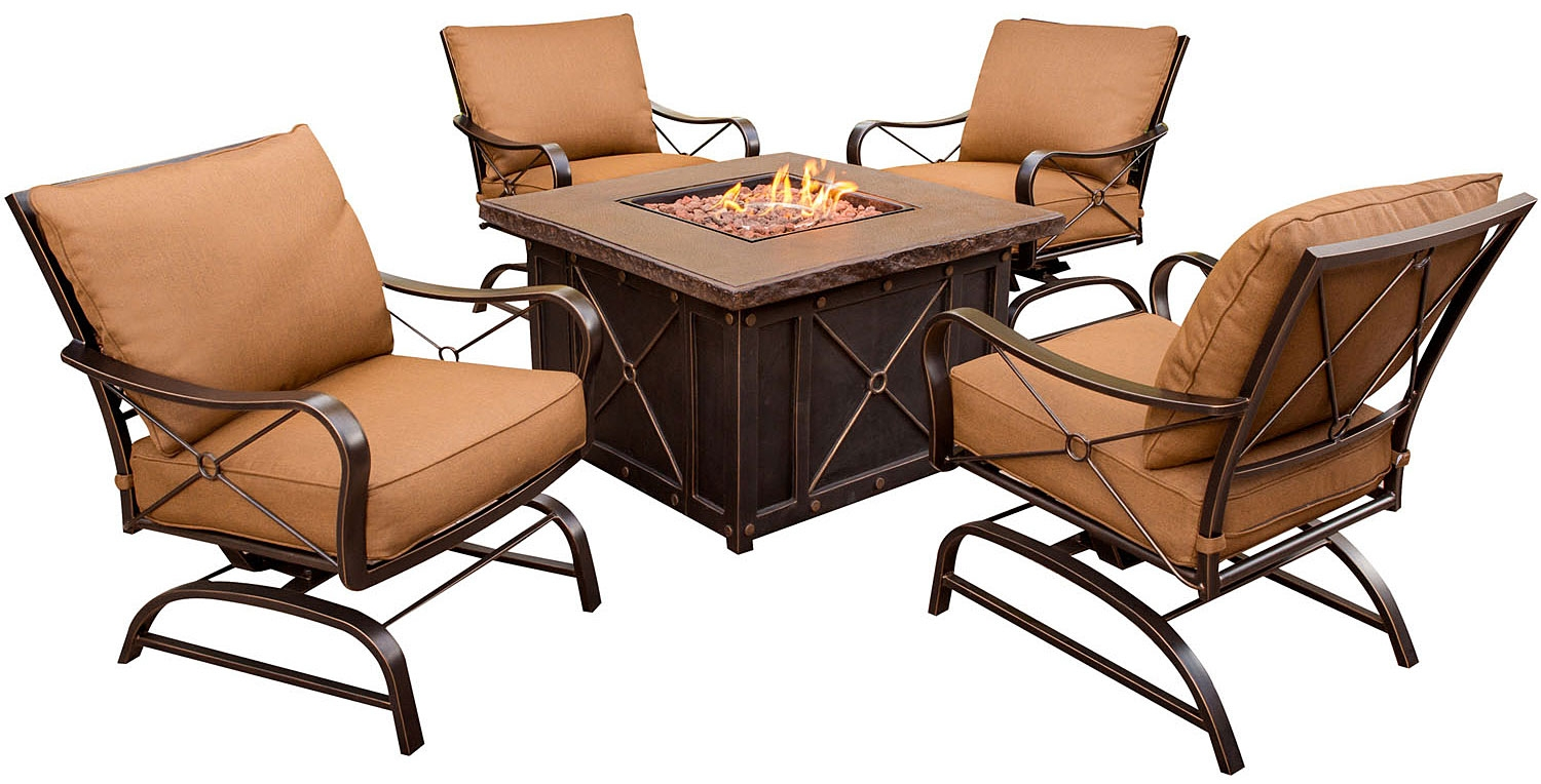 Hanover summer nights 5pc outdoor fire pit summrnght5pc for Outdoor furniture big w