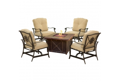 Hanover - SUMMRNGHT5PCTAN - Patio Seating Sets