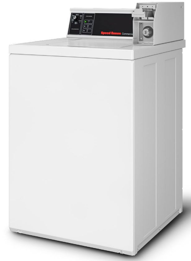 Speed Queen White Commercial Top Loading Washer