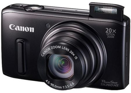 Canon - SX260HSBLK - Digital Cameras