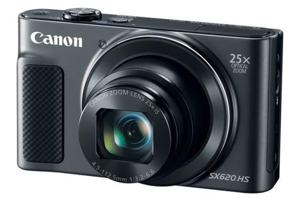 Large image of Canon PowerShot SX620 HS Black 20.2 Megapixel Digital Camera  - 1072C001