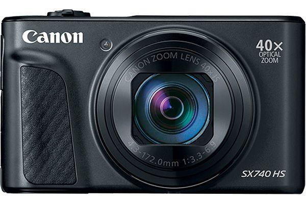 Large image of Canon PowerShot SX740 HS Black 20.3 Megapixel Digital Camera - 2955C001