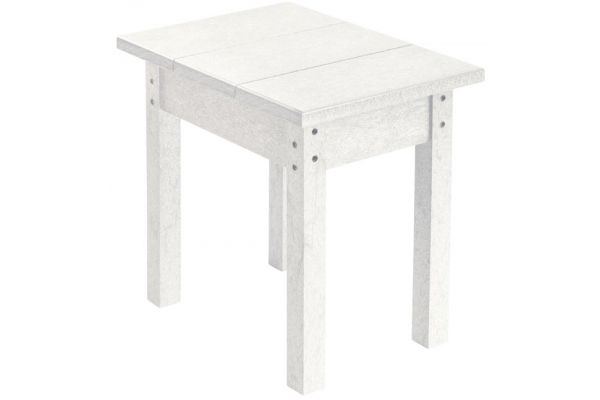 Large image of C.R. Plastic Products T01 White Small Rectangular Table - T01-02