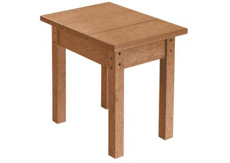C.R. Plastic Products T01 Cedar Small Rectangular Table - T01-08