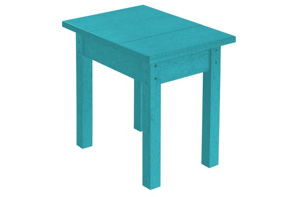 C.R. Plastic Products T01 Turquoise Small Rectangular Table - T01-09