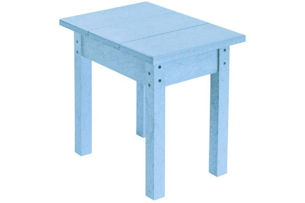Large image of C.R. Plastic Products T01 Sky Blue Small Rectangular Table - T01-12