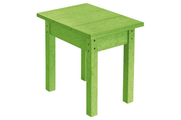 Large image of C.R. Plastic Products T01 Kiwi Small Rectangular Table - T01-17