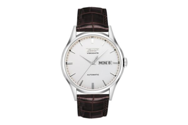 Large image of Tissot Visodate Automatic Silver Dial Mens Watch - T0194301603101