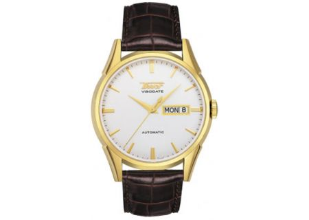 Tissot Brown Visodate Automatic Mens Watch - T0194303603101