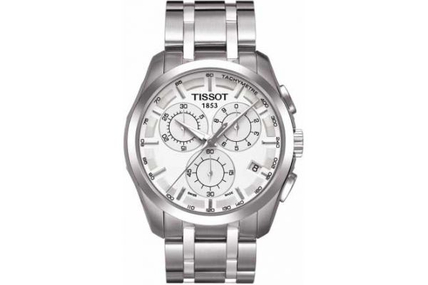 Large image of Tissot Stainless Steel Couturier Quartz Chronograph Mens Watch - T0356171103100