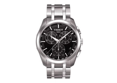 Tissot Couturier Black Chronograph Stainless Steel Mens Watch - T0356171105100
