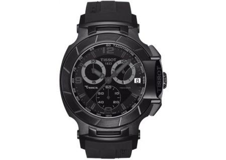 Tissot T-Race Black Quartz Chronograph Sport Mens Watch - T0484173705700