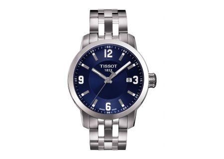 Tissot PRC 200 Blue Dial Quartz Mens Sport Watch - T0554101104700