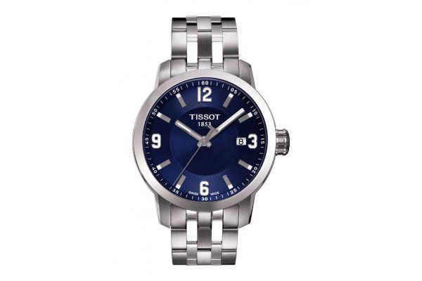 Large image of Tissot PRC 200 Blue Dial Quartz Mens Sport Watch - T0554101104700