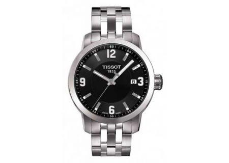 Tissot PRC 200 Black Quartz Stainless Steel Mens Sport Watch  - T0554101105700