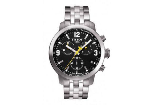 Large image of Tissot PRC 200 Chronograph Quartz Stainless Steel Mens Sport Watch - T0554171105700