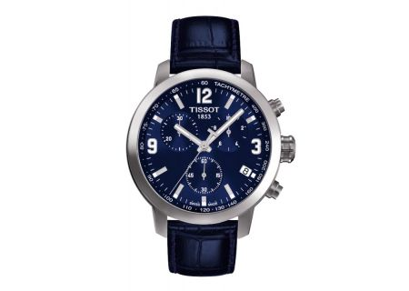 Tissot PRC 200 Quarts Chronograph Mens Blue Dial Watch  - T0554171604700