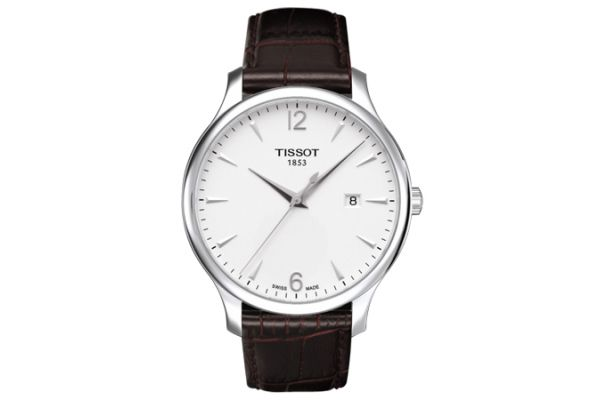 Large image of Tissot Silver Dial Tradition Gent Mens Watch - T0636101603700