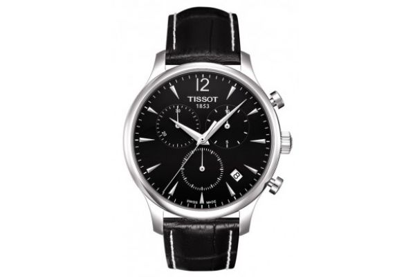 Large image of Tissot Black Dial Tradition Chronograph Mens Watch - T0636171605700