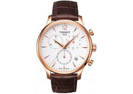 Tissot Tradition Rose Gold PVD Mens Quartz Classic Chronograph Watch - T0636173603700