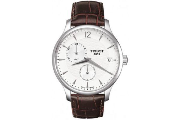 Large image of Tissot Tradition GMT Mens White Quartz Classic Watch - T0636391603700