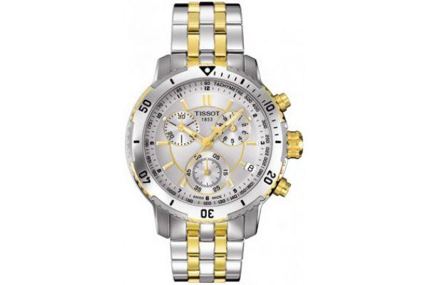 Large image of Tissot PRS 200 Mens Silver PVD Quartz Sport Watch - T0674172203100