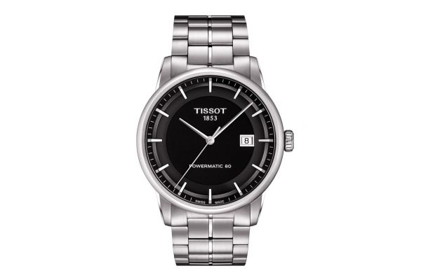 Large image of Tissot Luxury Automatic Mens Black Dial Watch - T0864071105100