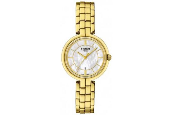 Large image of Tissot Flamingo Golden Stainless Steel Womens Watch - T0942103311100