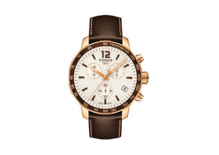 Tissot Quickster Nato Brown Chronograph Mens Watch - T0954173603702