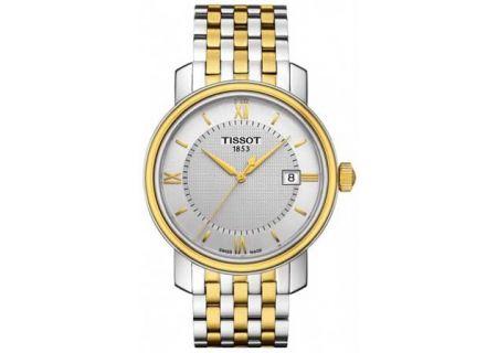 Tissot Bridgeport Quartz Two-Tone Stainless Steel Mens Watch - T0974102203800