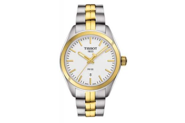 Large image of Tissot T-Classic Stainless Steel Two-Tone Womens Watch - - T1012102203100