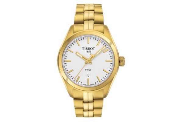Large image of Tissot T-Classic Yellow Gold Womens Watch - T1012103303100
