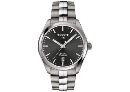 Tissot PR 100 Titanium Quartz Mens Watch  - T1014104406100
