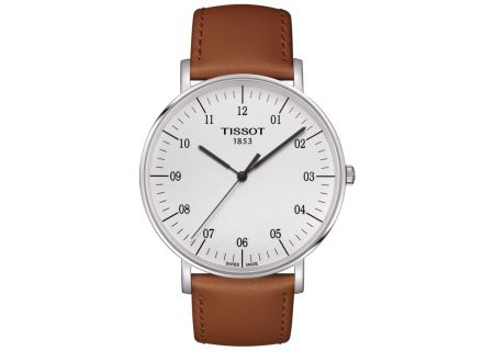 Tissot Everytime Stainless Steel And  Beige Leather Mens Watch  - T1096101603700