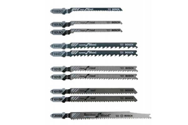 Bosch Tools 10 Piece T-Shank Jig Saw Blade Set  - T10RC
