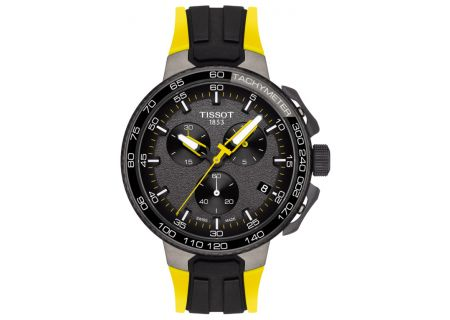Tissot T-Race Cycling Tour De France Collection Black And Yellow Mens Watch  - T1114173744100
