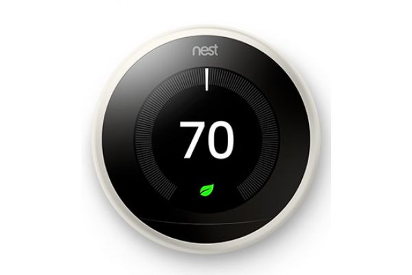 Nest Learning Smart Thermostat 3rd Generation, White - T3017US