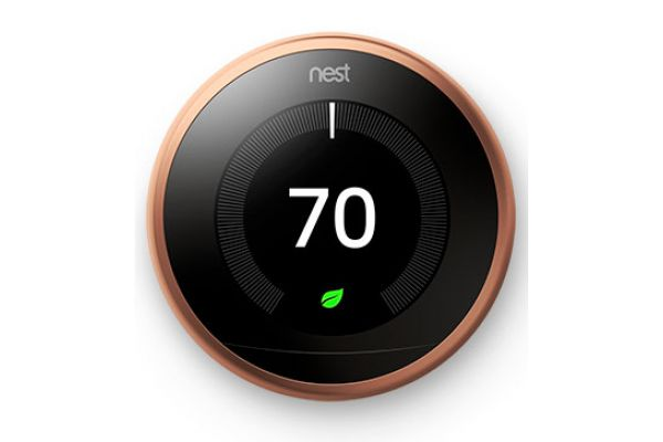 Nest Learning Smart Thermostat 3rd Generation, Copper - T3021US