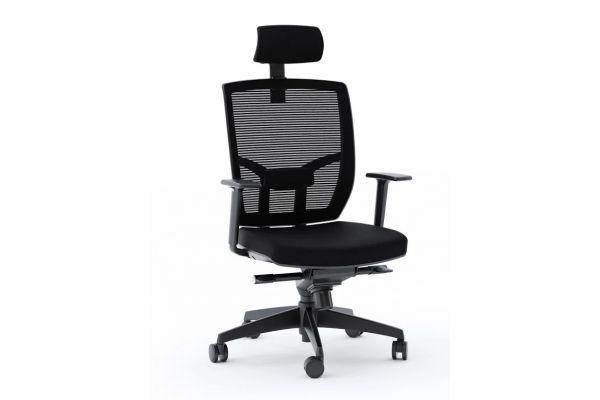 Large image of BDI  TC-223 Black Mesh Task Chair  - TC223DHFB