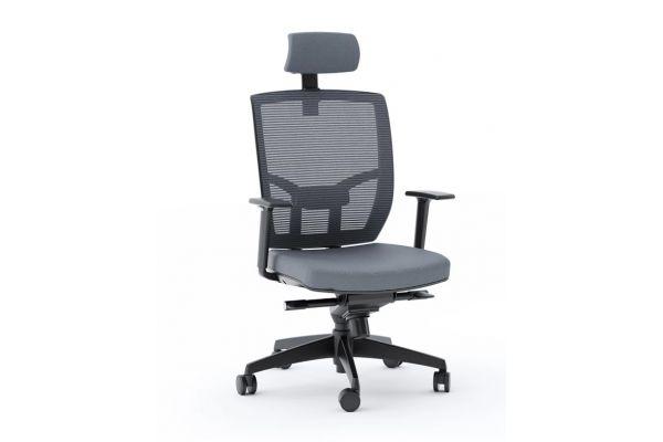 Large image of BDI  TC-223 Grey Mesh Task Chair  - TC223DHFGRY