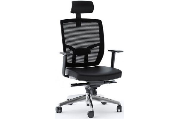Large image of BDI TC-223 Black Leather Task Chair - TC223DHL